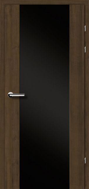 Межкомнатная дверь BRAMA 17.3 черное стекло
