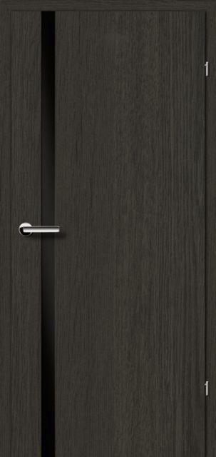 Межкомнатная дверь BRAMA 2.71 черное стекло