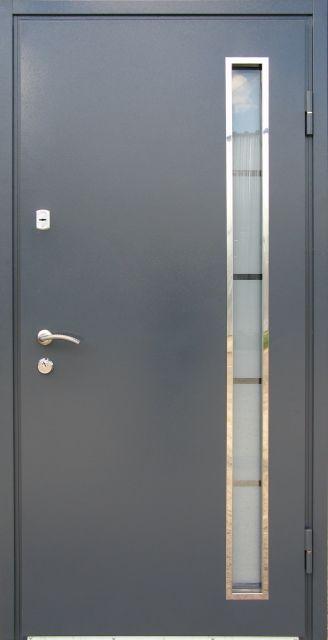 Входная дверь Redfort Металл МДФ со стеклопакетом
