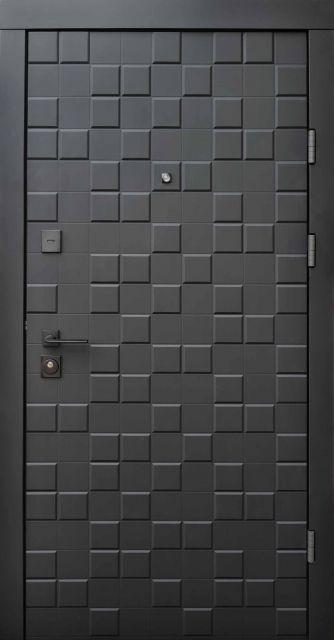Входная дверь Qdoors Ультра Онтарио Черный софт 950 мм