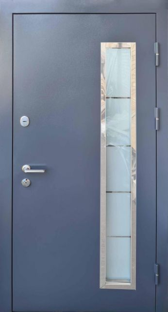 Входная дверь Форт-М Металл МДФ со стеклопакетом 960 мм